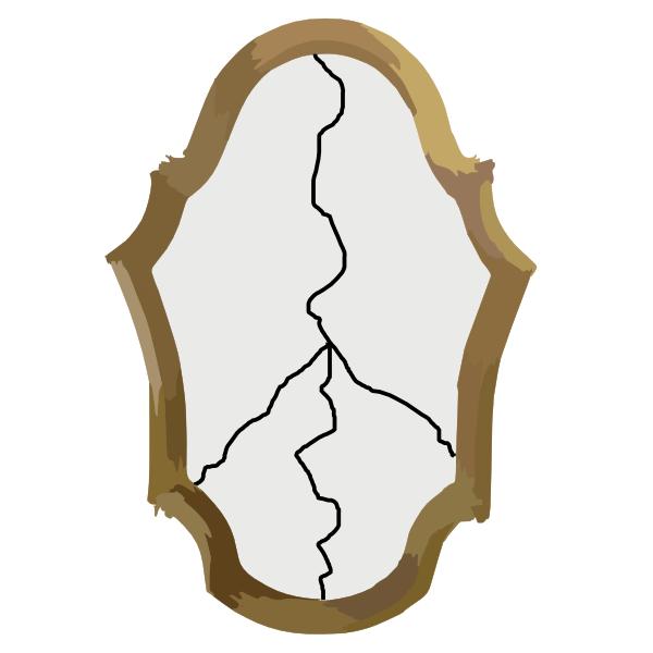 Broken Mirror Clipart - Clipart Kid