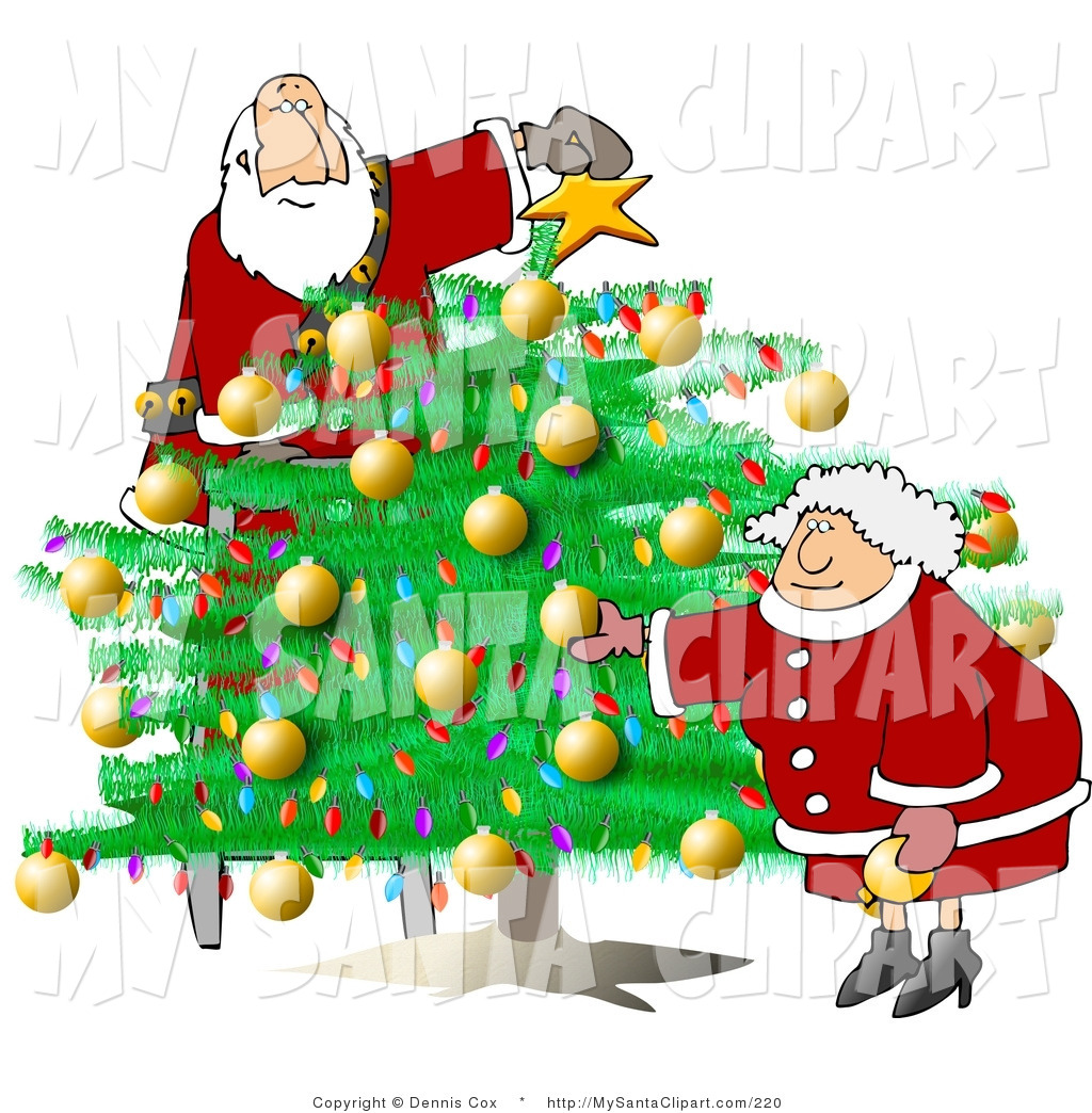 Christmas tree decorating clipart clipart suggest for Decoration clips