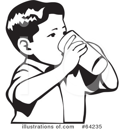 Drinking Clipart  64235   Illustration By David Rey