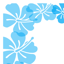 blue hibiscus clipart clipart suggest