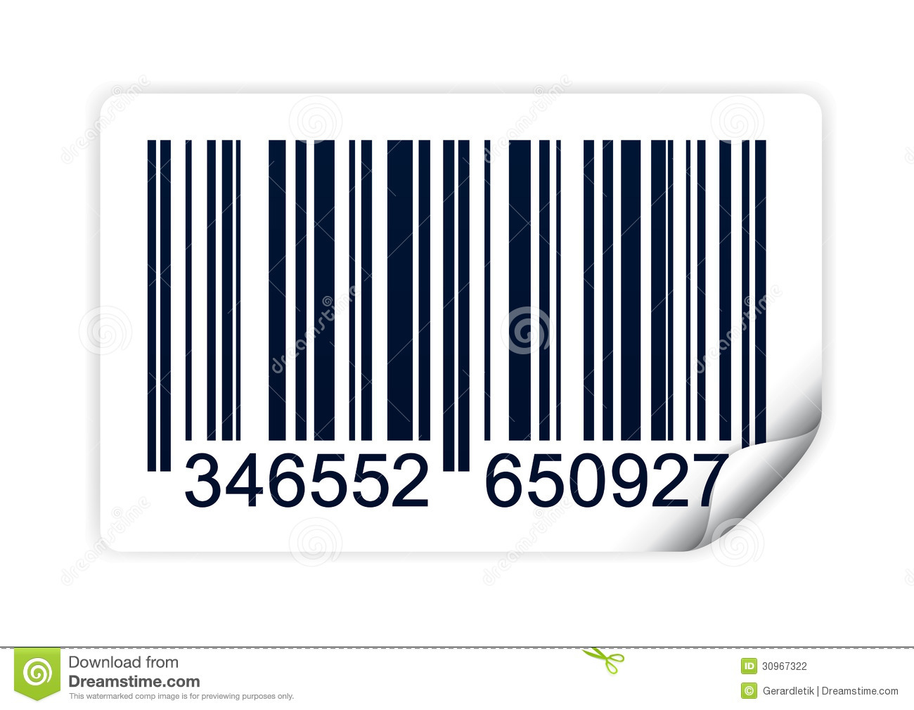 Illustration Of Barcode Isolated On White Background  Also Available