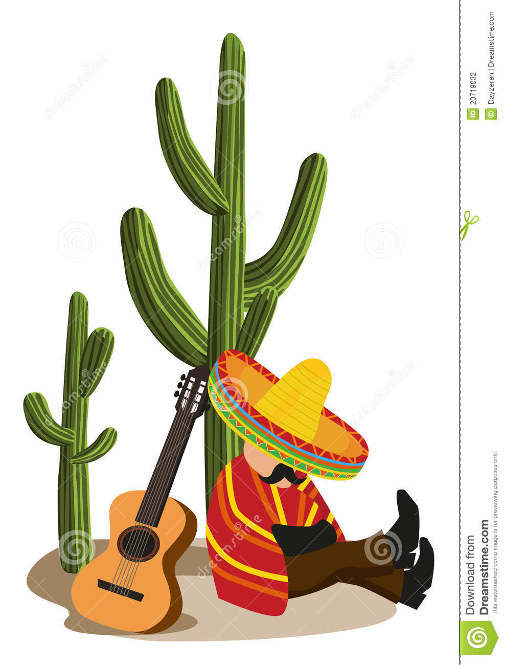 Mexican Cactus Clipart Mexican Napping