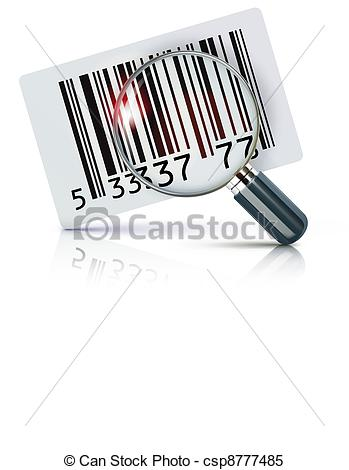 Vector Illustration Of Cool Identification Barcode Sticker With