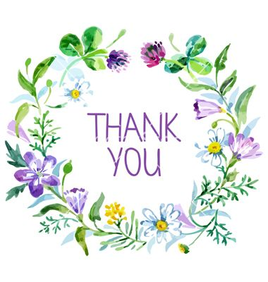 Watercolor Thank You Card Vector   Paper Love   Pinterest