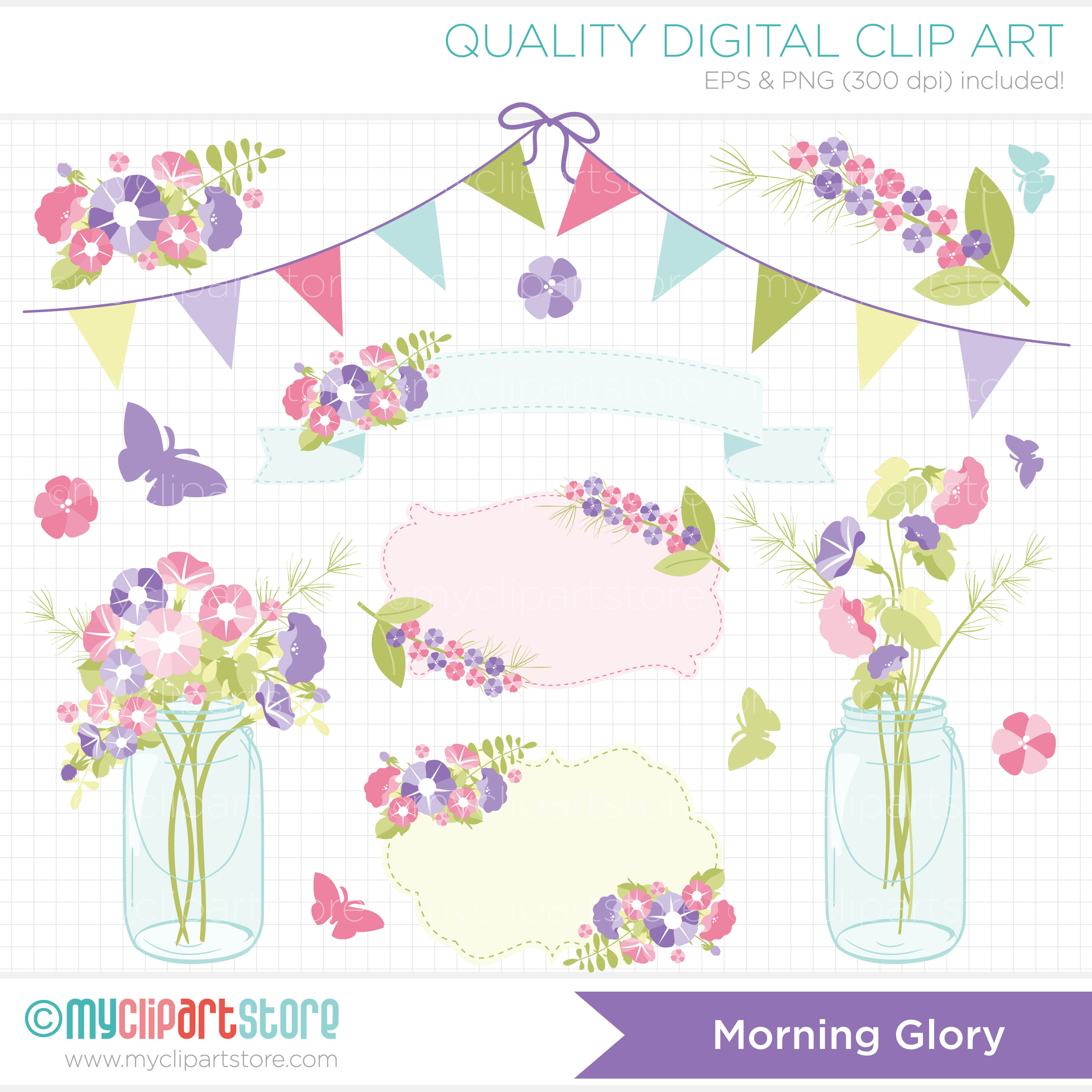 Clip Art   Flowers   Morning Glory  Mother S Day    Myclipartstore