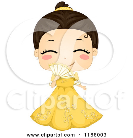 Clipart Of A Cute Girl Posing In A Native American Indian Costume