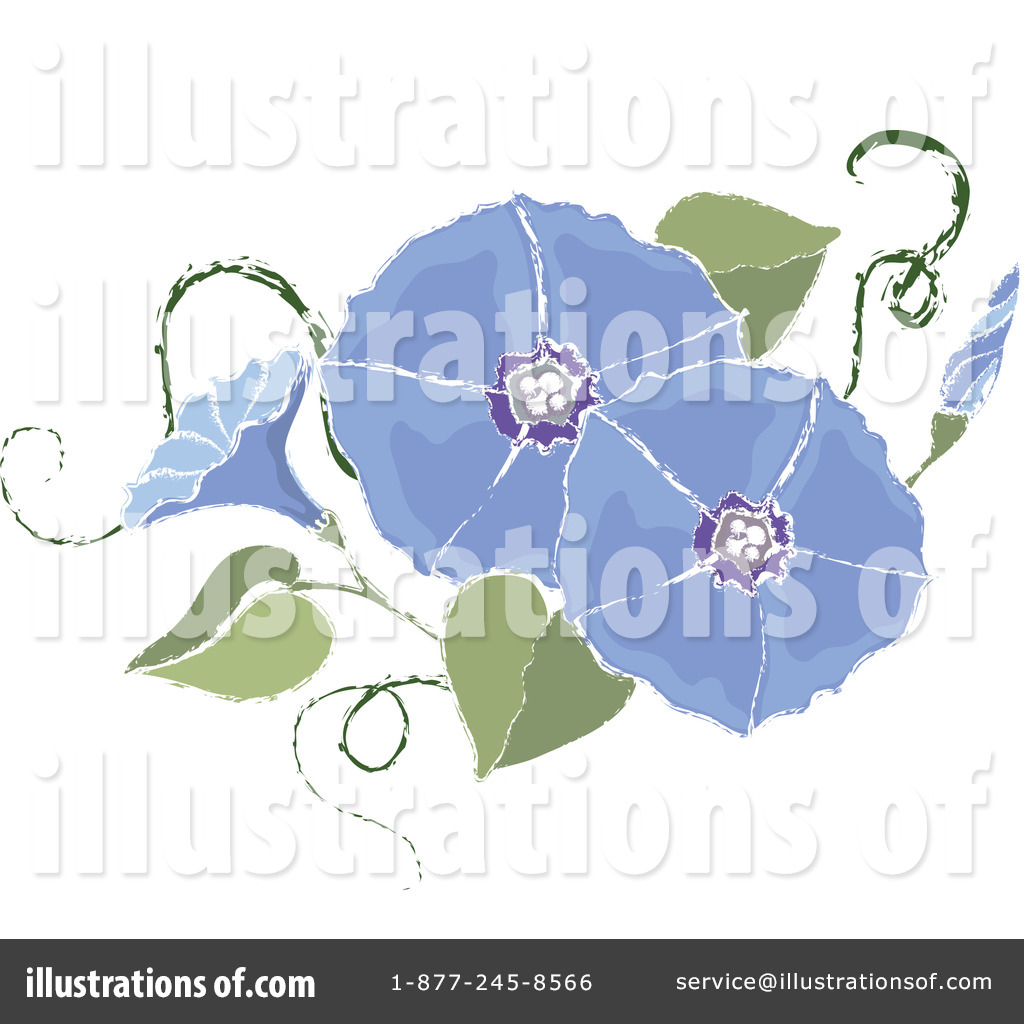Free  Rf  Morning Glory Clipart Illustration  1079234 By Pams Clipart