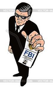 Secret Service Agent Body Guard   Vector Clipart