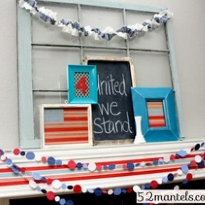 4th Of July Mantel Decor  Holiday Mantel
