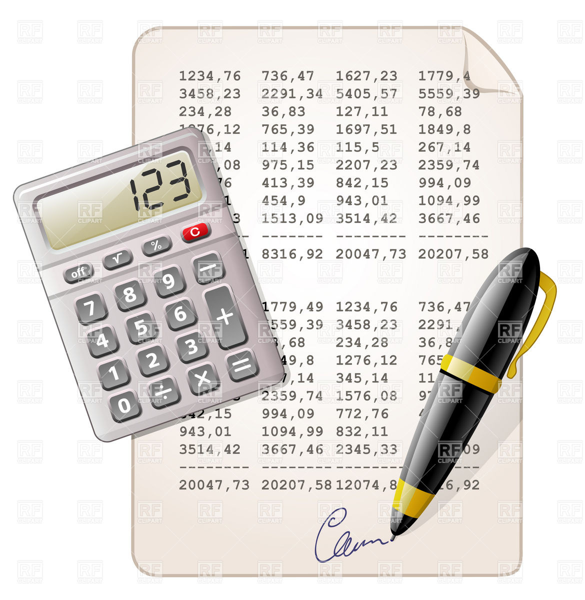 And And Financial Report Download Royalty Free Vector Clipart  Eps