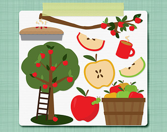 Apple Picking Clipart   Fall Clip Art Autumn Clipart   Clipart Digital