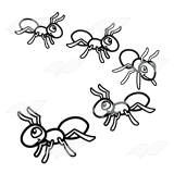 Beka Book    Clip Art    Five Marching Ants