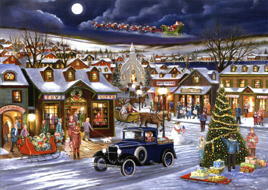 Cd8749 Old Fashioned Christmas Rejoice Christmas Card Jpg