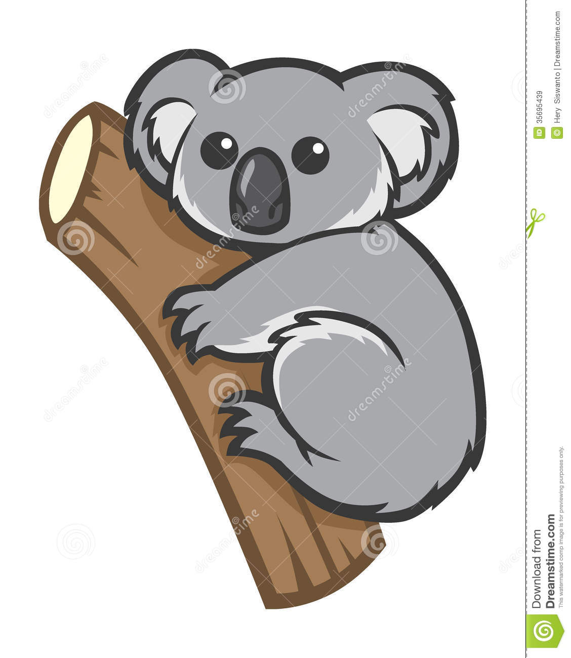 Cute Koala On A Tree Royalty Free Stock Images   Image  35695439