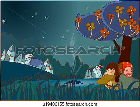 Illustration   Camping Under The Stars  Fotosearch   Search Clipart
