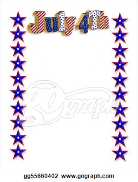 Like Or Share Free American 4th Of July Border Stationery Paper Free