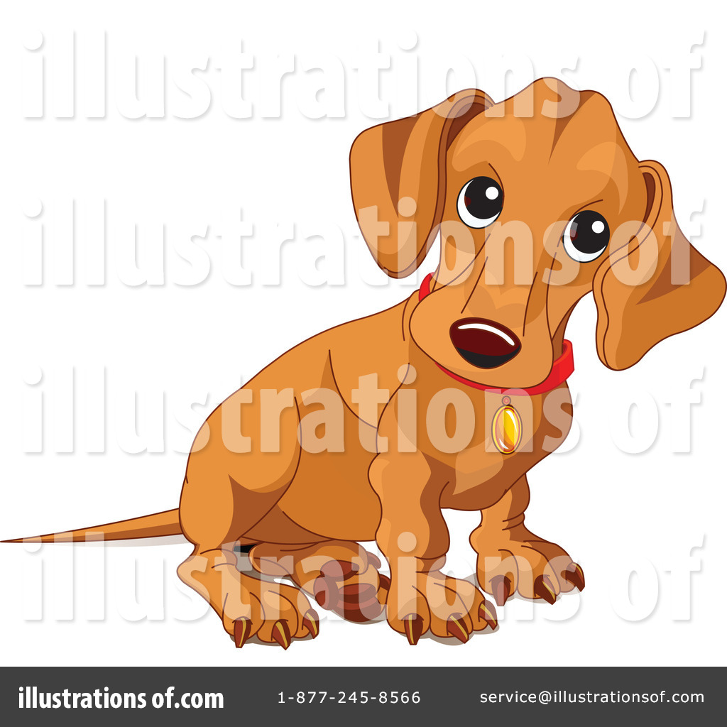 Royalty Free  Rf  Wiener Dog Clipart Illustration By Pushkin   Stock