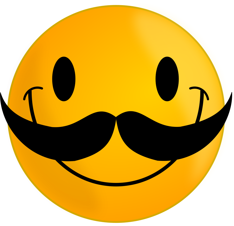 Smile With Mustache Clipart Large Size