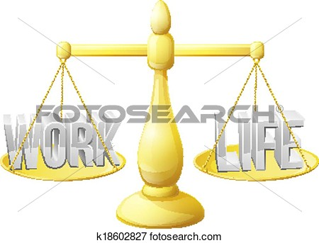 Work Life Balance Concept Work And Life On Scales Perfectly Balanced