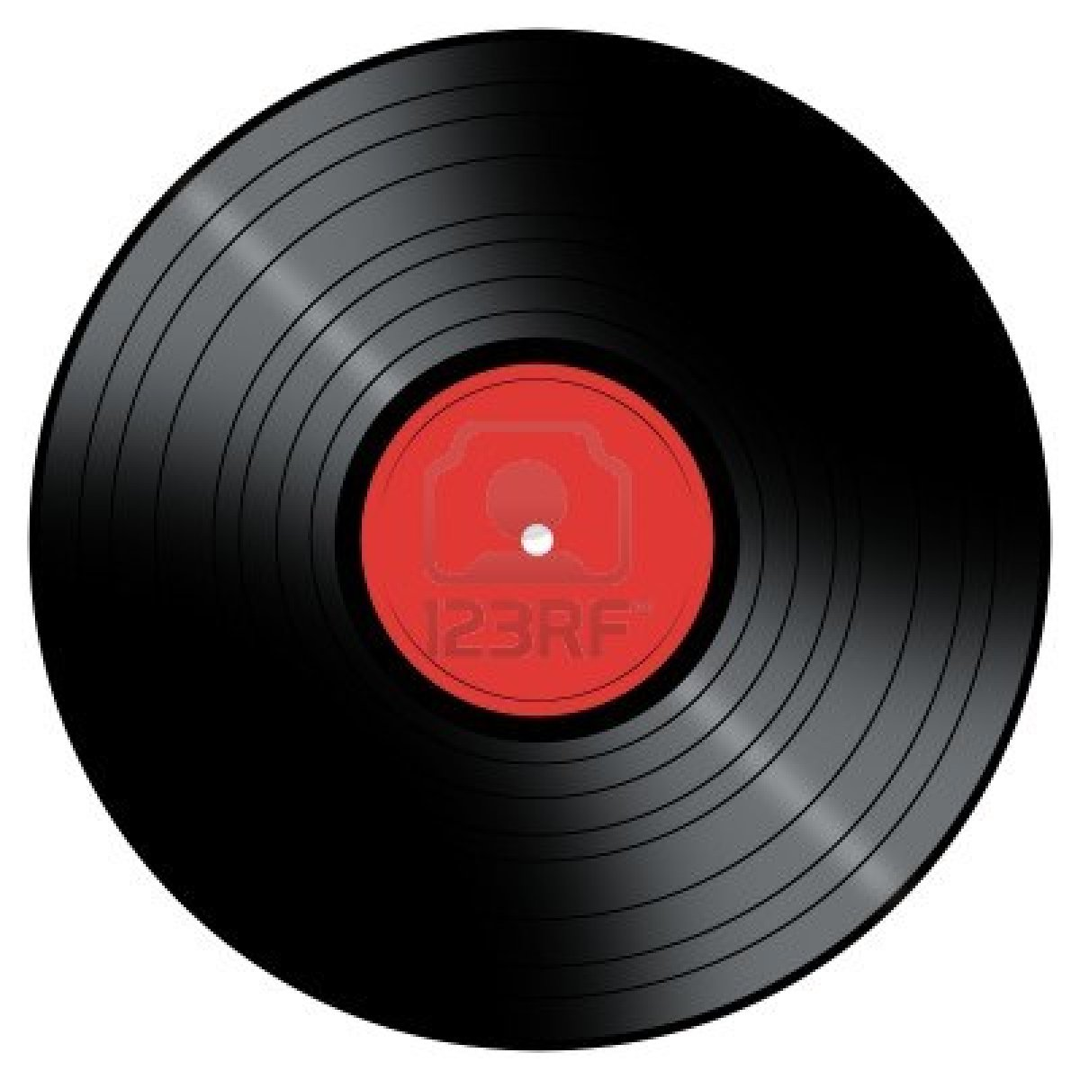 5027967 Vinyl Record With A Color Center On A White Background   Hub