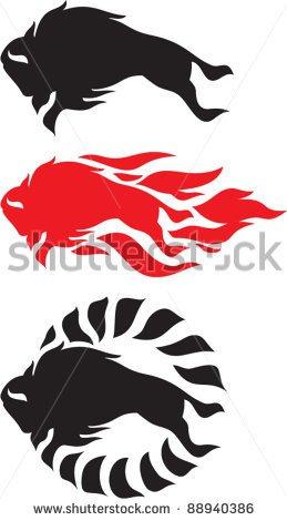Bison Mascot Clipart Bison   Stock Vector Bison
