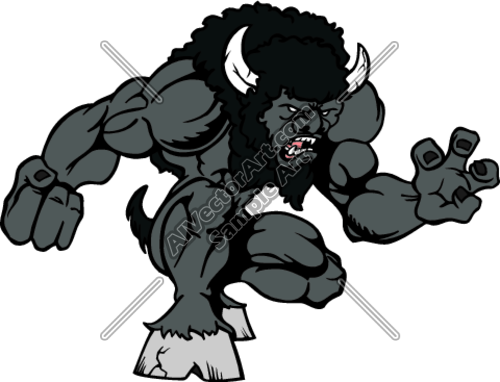 Bison mascot clipart - photo#6
