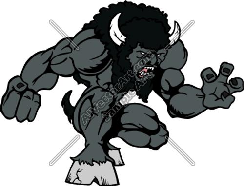 Bison mascot clipart - photo#6
