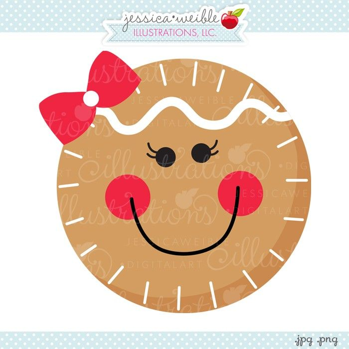 Cute Girl Gingerbread Clipart Gingerbread Girl Face   Jw