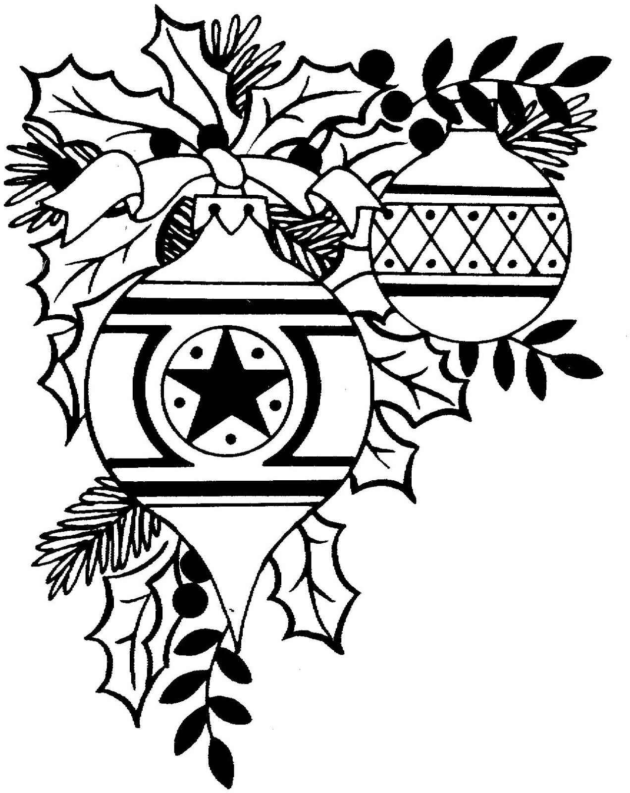 Christmas Black And White Clipart - Clipart Kid