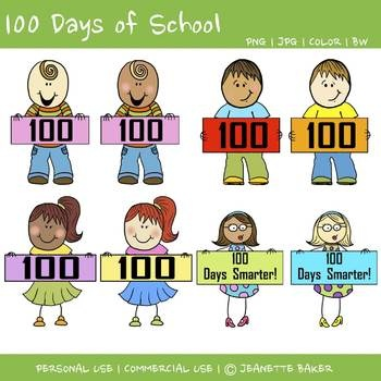 Free 100th Day Clipart   100th Day Activities   Pinterest