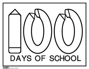 Free   100th Day Of School Coloring Page By Innovative Teacher More