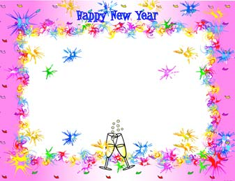 Free Printable Digital Scrapbook Pages New Year Eve Frameswinter