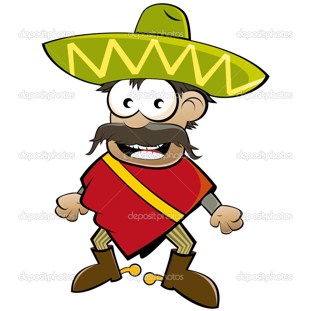 Funny Cartoon Mexican   Stock Vector   Shockfactor De  12002454