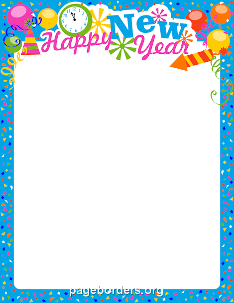 New Year S Eve Border  Clip Art Page Border And Vector Graphics