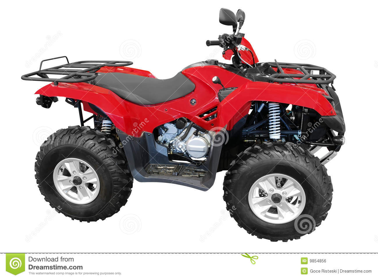 Red Atv Royalty Free Stock Image   Image  9854856