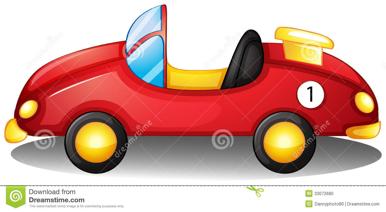 Red Toy Car Clipart A Red Toy Car