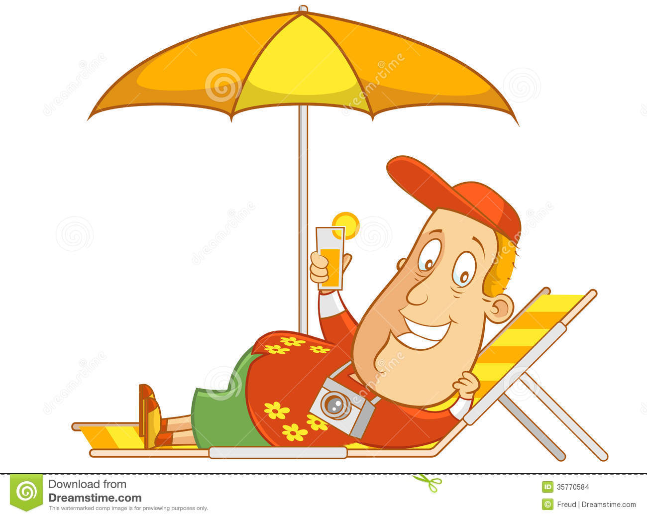 Relaxing On The Beach Clipart - Clipart Suggest