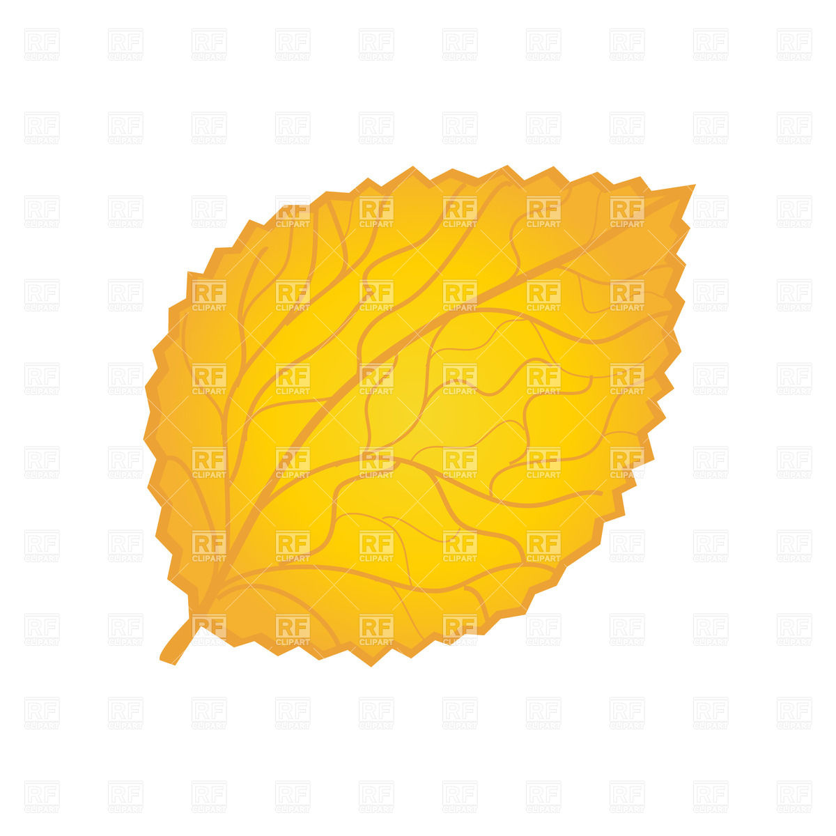 Yellow Autumn Leaf Download Royalty Free Vector Clipart  Eps