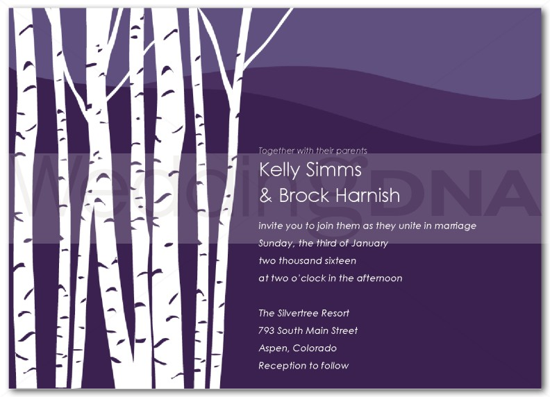 Birch Tree Wedding Invitation   Page 1