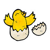 Bird Eggs Clip Art Cartoon Bird Hatching From Egg