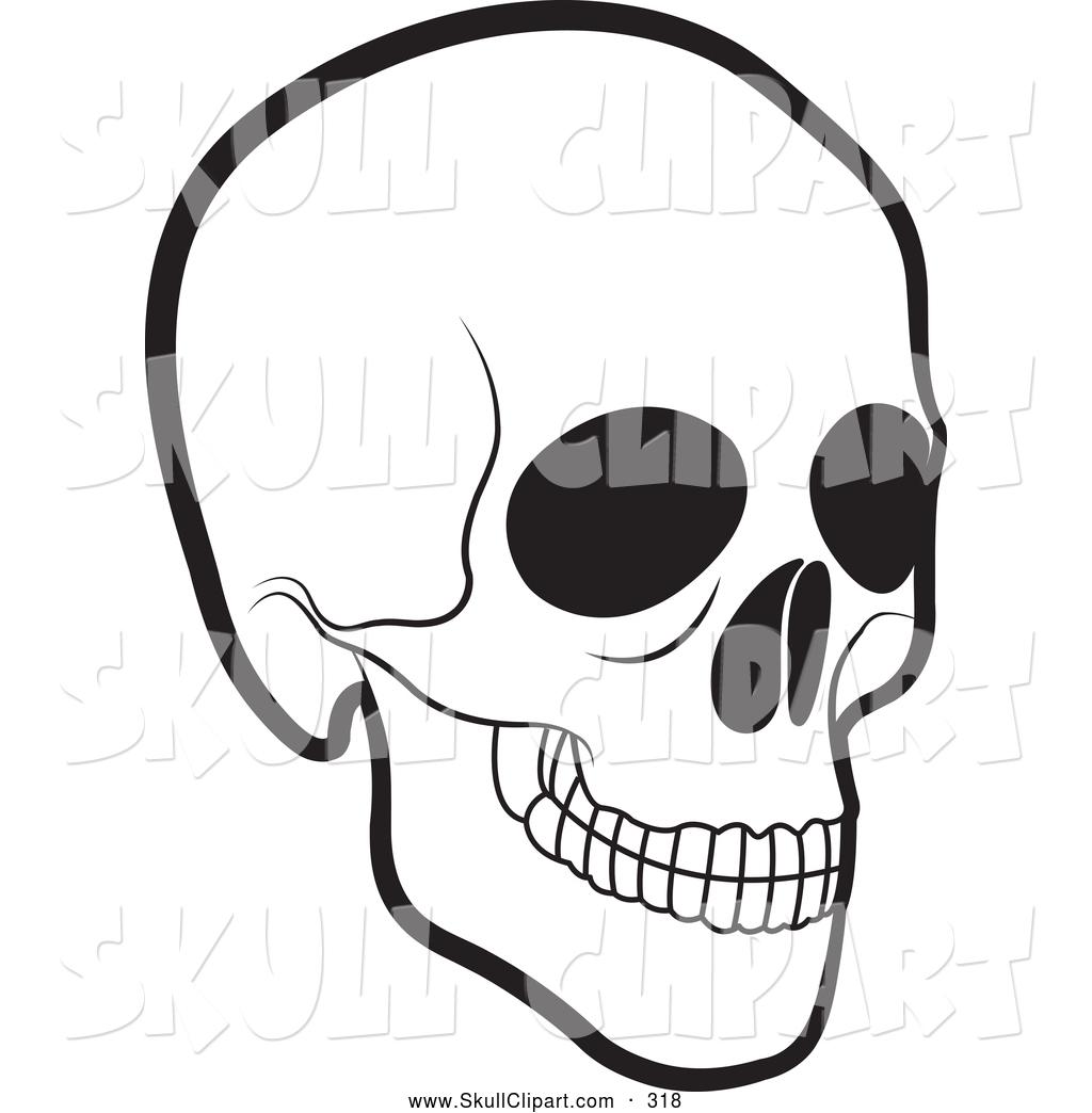 Black And White Human Skull Skull Clip Art Lal Perera