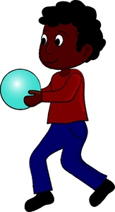 Boy Playing Clipart Image   An African American Kid Holding A Blue