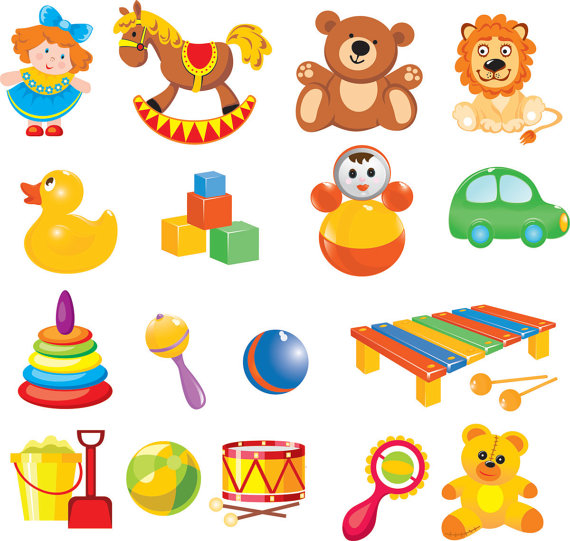 Cartoon Baby Toys Clip Art Digital Clip Art By Brunostore