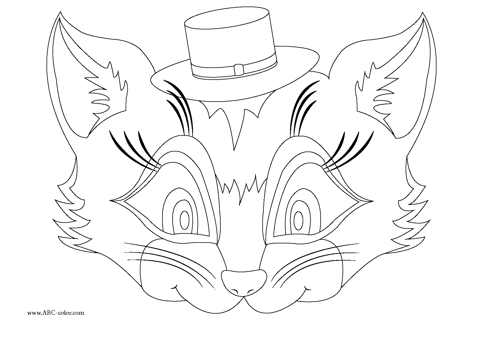 Download Bitmap Coloring Cat Mask