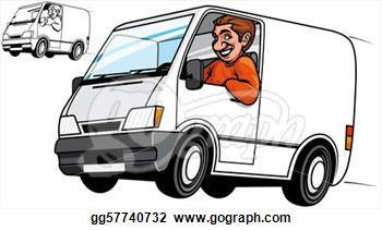 Drawing   Delivery Van  Clipart Drawing Gg57740732   Gograph