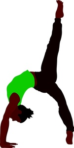 Gymnast Clipart Image   Black Skinned African American Woman Doing