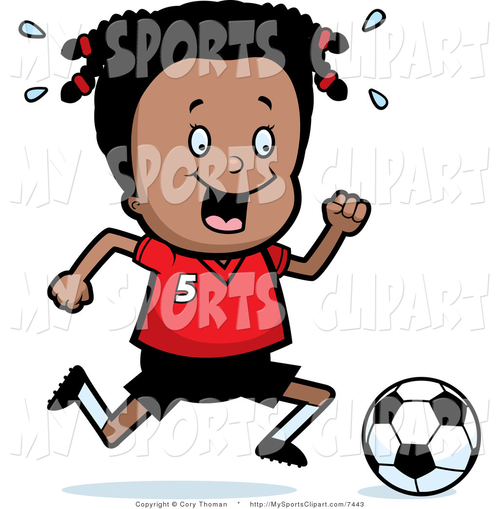 Royalty Free African American Girl Stock Sports Clipart Illustrations