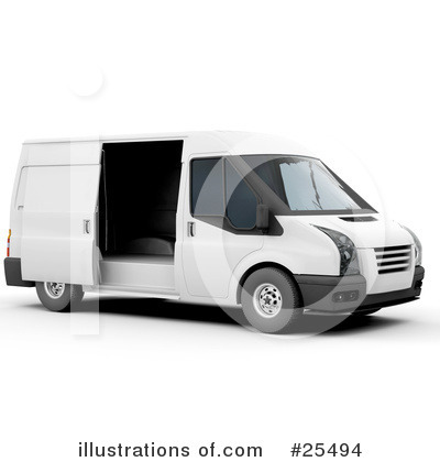 Royalty Free  Rf  Delivery Van Clipart Illustration By Kj Pargeter