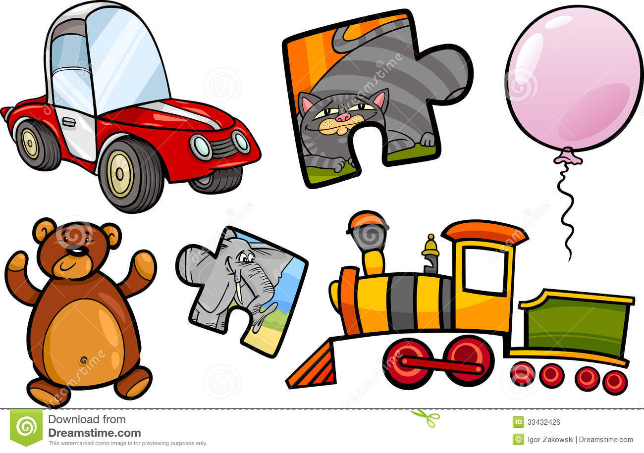 Toys Objects Cartoon Illustration Set Royalty Free Stock Image   Image