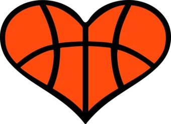 Basketball Heart Clipart - Clipart Kid